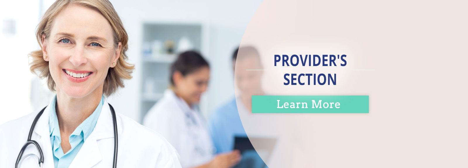 Providers's Section. Learn More.